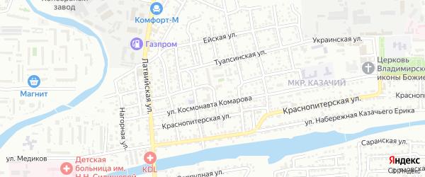 Улица Красный Рыбак на карте Астрахани с номерами домов