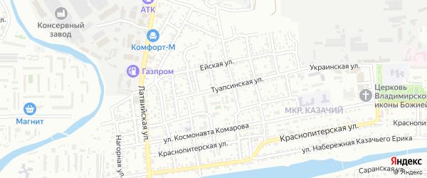 Улица Степана Разина на карте Астрахани с номерами домов