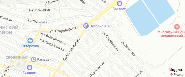 Соликамский проезд на карте Астрахани с номерами домов