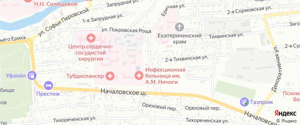3-я Тихвинская улица на карте Астрахани с номерами домов