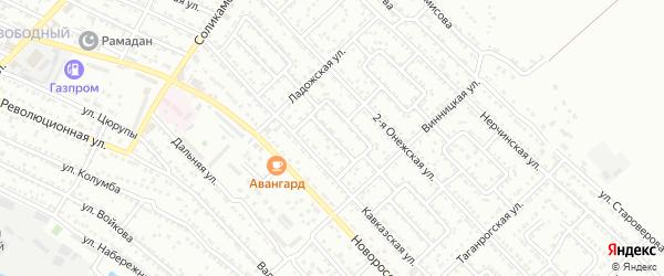 Улица Кавказская 4-й проезд на карте Астрахани с номерами домов