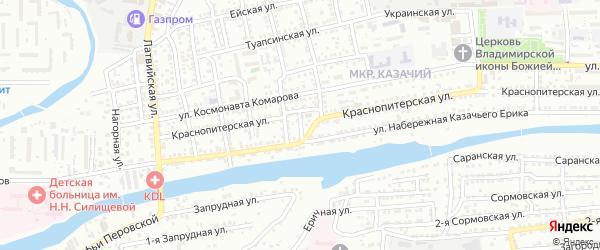 Мариупольская улица на карте Астрахани с номерами домов