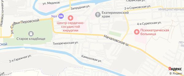 Садовое товарищество Консервщик-3 на карте Астрахани с номерами домов