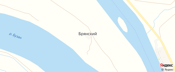 Береговая улица на карте Брянского поселка Астраханской области с номерами домов