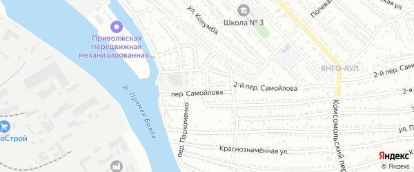 Варенцовой переулок на карте Астрахани с номерами домов