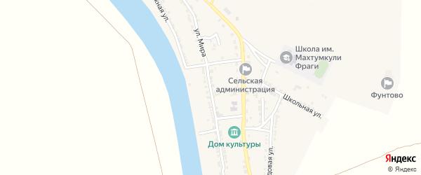Улица Мира на карте села Фунтово-1 Астраханской области с номерами домов