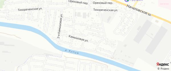 1-я Камышовая улица на карте Астрахани с номерами домов