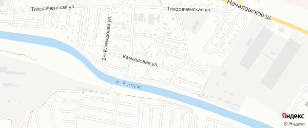 Камышовая улица на карте Астрахани с номерами домов