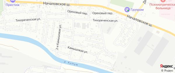 Объединенный 3-й переулок на карте Астрахани с номерами домов
