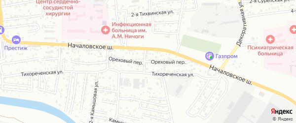 Ореховый переулок на карте Астрахани с номерами домов