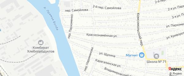 Переулок Нариманова на карте Астрахани с номерами домов
