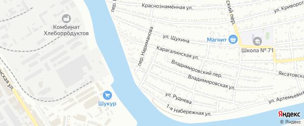 Красноармейский переулок на карте Астрахани с номерами домов