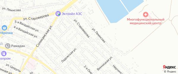 Улица Староверова на карте Астрахани с номерами домов