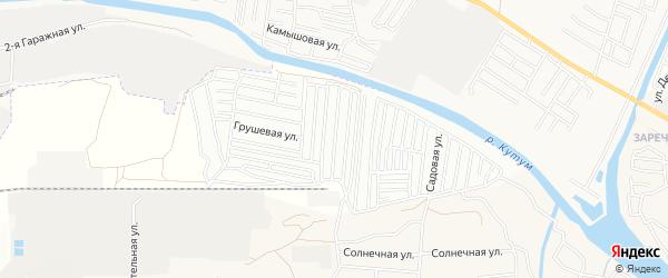 Садовое товарищество Надежда на карте Астрахани с номерами домов