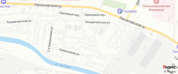 Тихореченский 2-й переулок на карте Астрахани с номерами домов