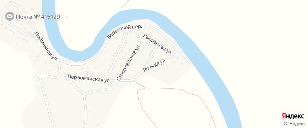 Речная улица на карте села Тулугановки Астраханской области с номерами домов