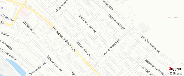 Улица Кавказская 5-й проезд на карте Астрахани с номерами домов