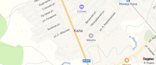Пионерская улица на карте села Калы с номерами домов
