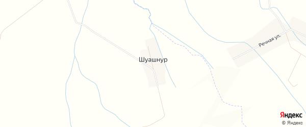 Карта деревни Шуашнура в Марий Эл с улицами и номерами домов
