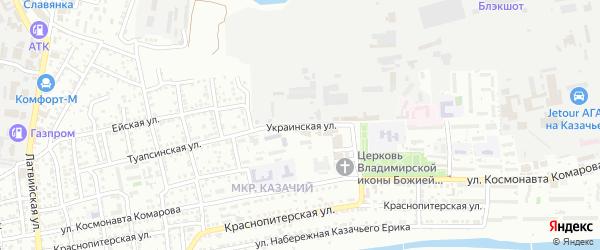 Украинская улица на карте Астрахани с номерами домов