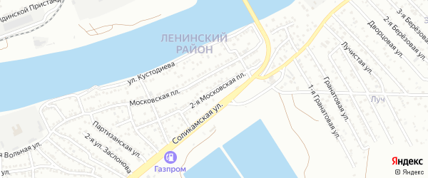 2-я Московская площадь на карте Астрахани с номерами домов