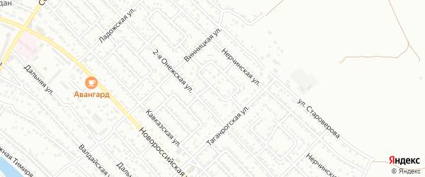 Болдинская 1-я улица на карте Астрахани с номерами домов
