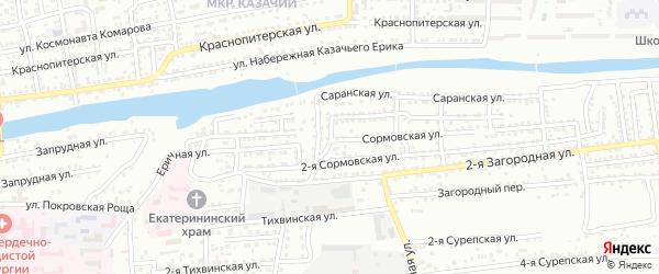 Полесская улица на карте Астрахани с номерами домов
