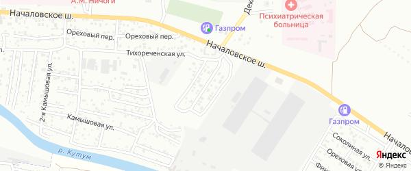 1-я Оранжерейная улица на карте Астрахани с номерами домов