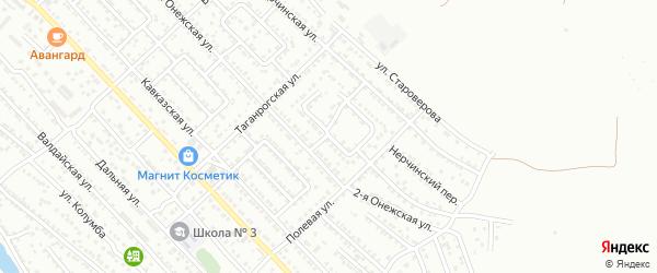2-я Болдинская улица на карте Астрахани с номерами домов