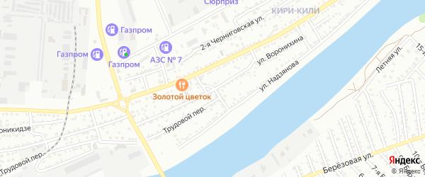 Переулок Воронихина на карте Астрахани с номерами домов