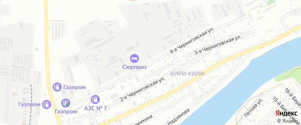 4-я Черниговская улица на карте Астрахани с номерами домов