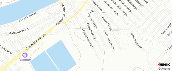 1-я Гранатовая улица на карте Астрахани с номерами домов