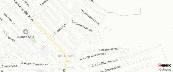 Сельскохозяйственная улица на карте Астрахани с номерами домов