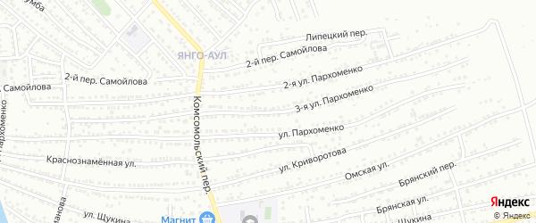 Улица 3-я Пархоменко на карте Астрахани с номерами домов