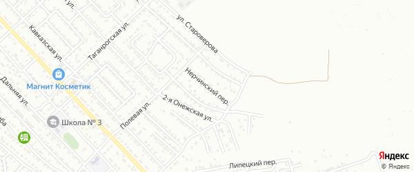 Нерчинский переулок на карте Астрахани с номерами домов