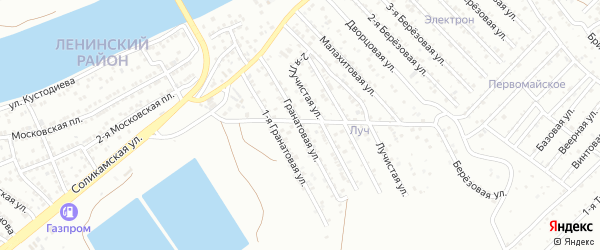 Гранатовая улица на карте Астрахани с номерами домов