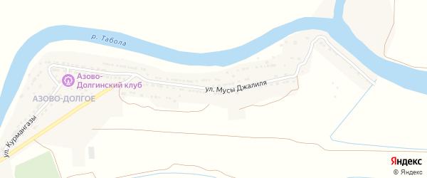 Улица Мусы Джалиля на карте Камызяка с номерами домов