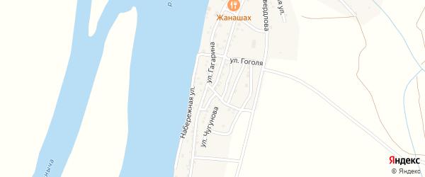 1 Мая улица на карте Кировского поселка Астраханской области с номерами домов
