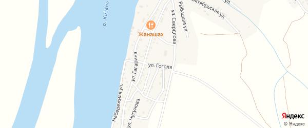 Улица Гоголя на карте Кировского поселка Астраханской области с номерами домов