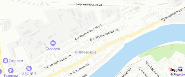 3-я Черниговская улица на карте Астрахани с номерами домов