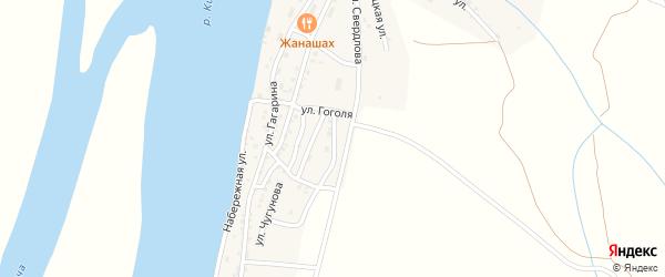 Астраханская улица на карте Кировского поселка Астраханской области с номерами домов