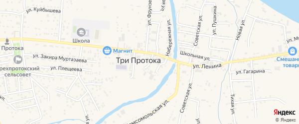 Улица Гоголя на карте села Три Протоки с номерами домов