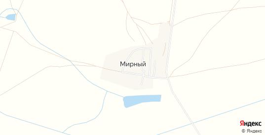 Карта поселка Мирный в Саратовской области с улицами, домами и почтовыми отделениями со спутника онлайн