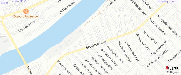 Березовый 4-й переулок на карте Астрахани с номерами домов