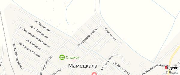 Улица Крупской на карте поселка Мамедкалы с номерами домов