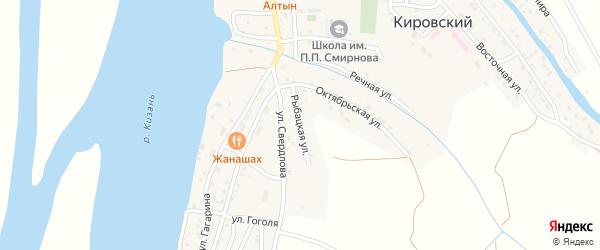 Рыбацкая улица на карте Кировского поселка Астраханской области с номерами домов
