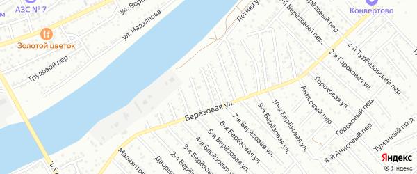5-й Березовый переулок на карте Астрахани с номерами домов