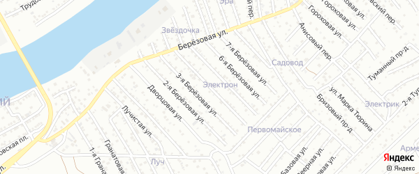 4-я Березовая улица на карте Астрахани с номерами домов