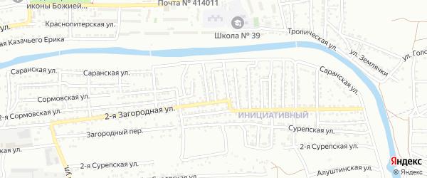 2-я Николаевская улица на карте Астрахани с номерами домов