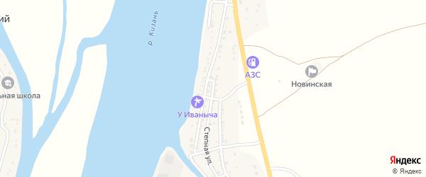 Степная улица на карте Кировского поселка Астраханской области с номерами домов